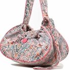 Paisley w/Pink Trim Couruory Sling Dog Carrier