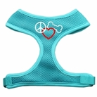 Peace, Love & Bone Soft Mesh Dog Harness