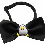 Penguin Chipper Holiday Dog Bow Tie