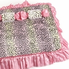 Pink Cheetah Dog Bed
