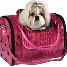 Pink Croco Pet Carrier
