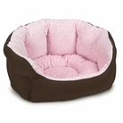 Pink Dimple Plush Dog Bed