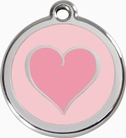 Pink Heart * Dog ID Tag