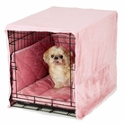 Pink Plush Luxury Cratewear Dog Bedding Set