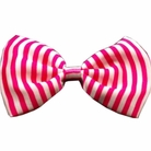 Pink Stripes Dog Bow Tie