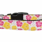 Pink & Yellow Hibiscus Dog Collars & Leashes