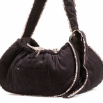 Plum Corduory Sling Dog Carrier