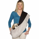 Plush Reversible Grey & Black Sling Pet Carrier