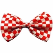 Red Checkered Dog Bow Tie