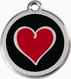 Red Heart * Dog ID Tag