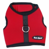 Red Mesh Wrap N Go Velcro Harness by Bark Appeal