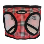 Red Plaid Mesh EZ Wrap Non-Choking Dog Harness by Bark Appeal