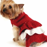 Red Sequin Dog Sweater Dress