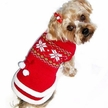 Red Snowflake Dog Sweater Dress