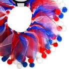 Red, White & Blue Fuzzy Party Dog Collar