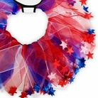 Red, White & Blue Star Party Dog Collar