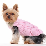 Ruched Bubble Reversible Dog Jacket - Pink