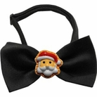 Santa Chipper Holiday Dog Bow Tie