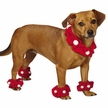 Santa Holiday Dog Scrunchie Set