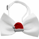 Santa Hat Chipper Holiday Dog Bow Tie