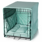 Seafoam Blue Plush Luxury Cratewear Dog Bedding Set