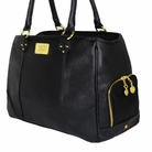 Signature Tote Dog Carrier Bag - Black