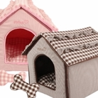 Snug Dog House Bed by Pinkaholic