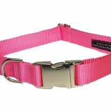 Solid Pink Dog Collars, Harnesses & Leashes