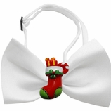 Stocking Chipper Holiday Dog Bow Tie