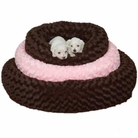 Swirl Plush Donut Dog Bed