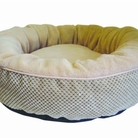 Tan Chenille Donut Dog Bed