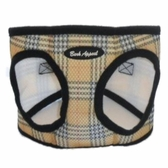 Tan Plaid Mesh EZ Wrap Non-Choking Dog Harness by Bark Appeal
