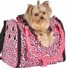 Vibrant Leopard Pink Dog Carrier