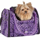 Vibrant Leopard Purple Dog Carrier