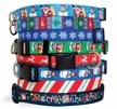 Winter Holiday Dog Collars, Harnesses & Leashes