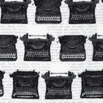 Typewriters in White