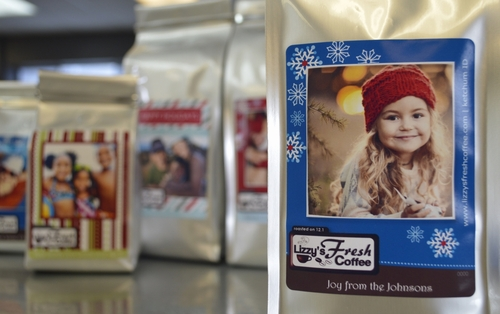 CUSTOM HOLIDAY PHOTO COFFEE LABEL