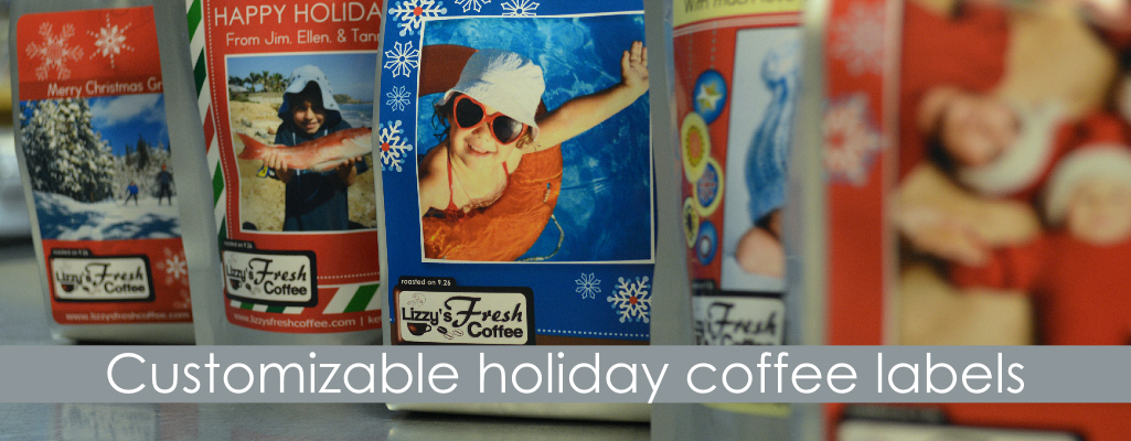 Customizable Holiday Coffee Labels