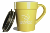 LIZZY'S PORCELAIN MUG WITH TRAVEL LID 10 oz