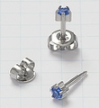 Stainless Steel prong setting Universal Ear Piercing Studs