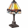 1 Light Holmes Tiffany Table Lamp shown in Vintage Bronze by Quoizel Lighting - TF1021TVB