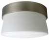 1 Light Mini Flush Lighting with opal glass diffuser shown in Satin Nickel by AFX Lighting
