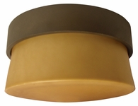 1 Light Mini Flush Lighting with Tea stained glass diffuser shown in Oil-rubbed Bronze by AFX Lighting