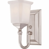 1 Light Nicholas Bath Fixture shown in Brushed Nickel by Quoizel Lighting - NL8601BN
