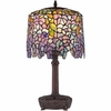 1 Light Purple Wisteria Tiffany Table Lamp by Quoizel Lighting - TF1139T