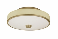 1 Light Semi-Flush Lighting with linen shade diffuser shown in Champagne by AFX Lighting