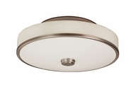 1 Light Semi-Flush Lighting with white acrylic / linen shade diffuser shown in Satin Nickel by AFX Lighting