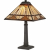 1 Light Timber Tiffany Table Lamp shown in Vintage Bronze by Quoizel Lighting - TF1246TVB