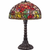 1 Light Wild Garden Tiffany Table Lamp shown in Imperial Bronze by Quoizel Lighting - TF1604TIB
