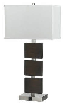 100w metal night stand lamp with dual rocker switches and outlets. Black Bedroom Furniture Sets. Home Design Ideas